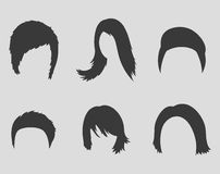 Hairstyles icons. Set of icons on a theme hairstyles Stock Photo