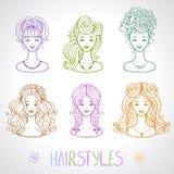 Hairstyles Royalty Free Stock Photos