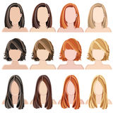 Hairstyles Royalty Free Stock Photo