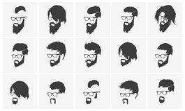Hairstyles With A Beard And Mustache Wearing Stock Photos