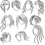Hairstyles for women Royalty Free Stock Image