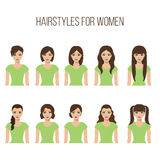 Hairstyles for women royalty free illustration