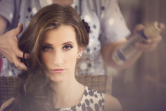 Hairstyling Royalty Free Stock Photography