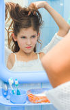 Hairstyling Teenager Royalty Free Stock Photos