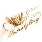 Hairstylinglogo Fotografering för Bildbyråer