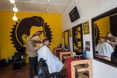 Hairstylist fryzjera męskiego klient Obraz Royalty Free