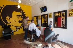 Hairstylist fryzjera męskiego wystrój Obrazy Stock