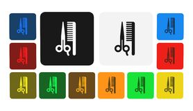 Hairstylist icon, sign,illustration. Hairstylist icon, sign,best illustration Royalty Free Illustration