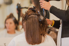 Hairstylist Salon Drying Style Stock Image