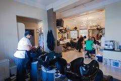 Hairstylist Salon Customers Stock Photography