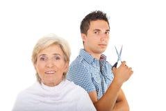 Hairstylistmann Lizenzfreies Stockfoto