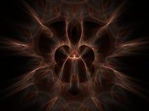 Hairy artifact. Light hairy fractal on dark background Stock Photography