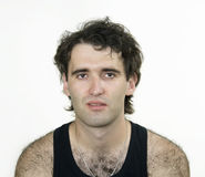 Hairy attractive man Royalty Free Stock Photos