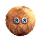 Hairy ball toy. Isolated on white Stock Photography