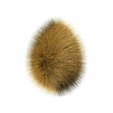 Hairy egg. Beautiful brown 3d hairy egg Stock Images