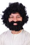 Hairy funny man Royalty Free Stock Photography