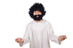 Hairy funny man Stock Image