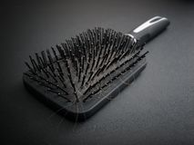 Hairy hairbrush Royalty Free Stock Photo