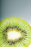 Hairy kiwi slice Stock Photo