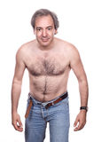 Hairy man. Mature and naked hairy man Stock Photos