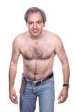 Hairy man stock photos