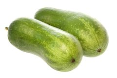 Hairy Marrows Isolated Royalty Free Stock Photo