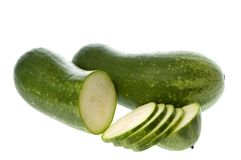 Hairy Marrows Isolated Stock Photography