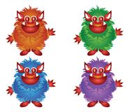 Hairy Monster Royalty Free Stock Photos