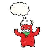 Hairy monster cartoon Stock Photos