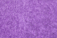 Hairy purple fabric Stock Photography