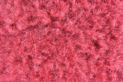 Hairy red fabric Stock Images