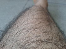 Hairy skin Stock Photo