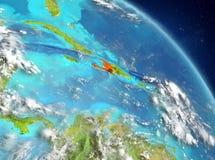 Haití de la órbita stock de ilustración