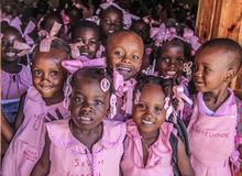 Haitańscy dziecko w wieku szkolnym Zdjęcia Royalty Free