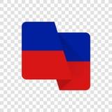 Haiti - bandeira nacional ilustração royalty free