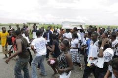 Haiti-Begräbnis. Lizenzfreies Stockbild