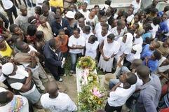 Haiti-Begräbnis. Stockfoto