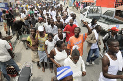 Haiti-Begräbnis. Lizenzfreies Stockfoto