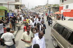 Haiti-Begräbnis. Lizenzfreie Stockfotos