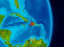 Haiti do espaço Fotografia de Stock