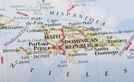 Haiti and Dominican Republic map Stock Photography