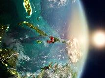 Haiti durante o nascer do sol Imagens de Stock
