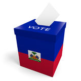 Haiti election ballot box for collecting votes. Rendered in 3D on a white background Royalty Free Stock Image
