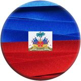 Haiti flag or banner. Made with red and blue ribbons Stock Photo