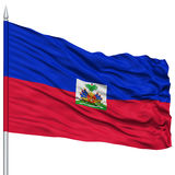 Haiti Flag on Flagpole Royalty Free Stock Images