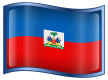 Haiti Flag icon Stock Photography