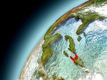 Haiti från omlopp av modellen Earth Royaltyfri Fotografi