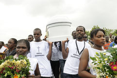 Haiti Funeral. Royalty Free Stock Photos