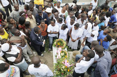 Haiti Funeral. Stock Photo