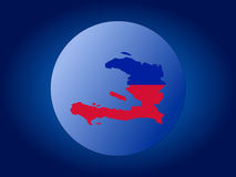 Haiti globe Stock Photography